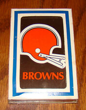 Vintage 1969 Cleveland Browns NFL Poker Playing Cards - NEW OLD STOCK