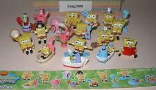 """Satz Fremdfiguren """"Spongebob / Schwammkopf"""" mit Beipackzettel von BIP"""
