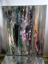ART CANVAS PAINTING BY MUSK YAI ABSTRACT Contemporary Modern Fine Art~