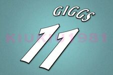 Manchester United Giggs #11 UEFA Champions League 97-06 White Name/Number Set
