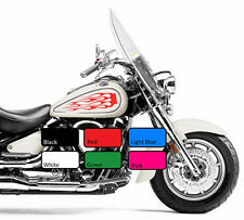 2 x Flame 117 Fuel Tank Fire Vinyl Motorcycle Motor Decal Sticker Motorbike Bike