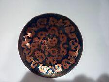Kareka Hand Made Mid Century Modern Enamel Copper Plate Original Sticker