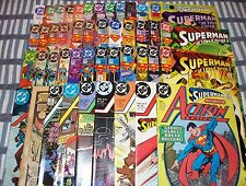 Big Lot of 45 SUPERMAN in ACTION COMICS from #510 to #778 with Annuals #3 & #4