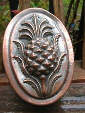 Stunning antique Kitchen tin mold AAFA c.1880s-1900~pineapple design folk art~