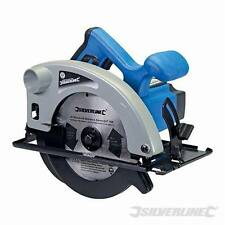 HEAVY DUTY SILVERLINE 1200W 185MM TCT CIRCULAR SAW & CUTTING BLADE 3YR WARRANTY