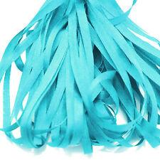 Un mètre de doux ruban de soie, turquoiise couleur bleu, 4 mm large