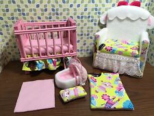 Barbie baby Nursery Set Furniture ,crib ,sofa ,carrier. Doc Mcstuffins Lambie