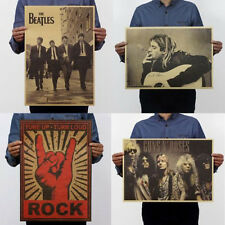 Antique Pop Music Rock Band Kraft Paper Stars Poster Pub Home Wall Decor home