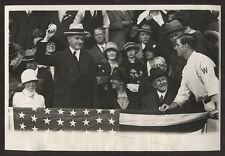 Calvin Coolidge 1st President To Open A World Series B&W Photograph