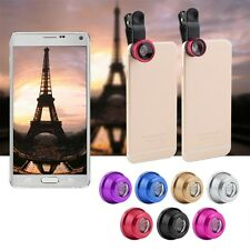 Red 3 In 1 Clip Camera Lens Fish Eye Wide Angle Macro Kit For Smart Phone SS1