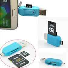 for Smart Phone USB 2.0+Micro USB OTG Adapter SD T-Flash Memory Card Reader hs