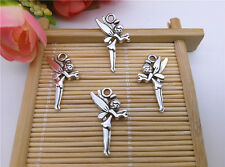 10pcs Tibet Silver Aircraft Flower Fairy / Elf Pendant Beaded Jewelry TT07