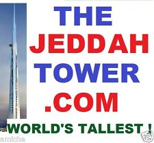 THE JEDDAH TOWER .com official name of WORLD'S TALLEST BUILDING domain name site