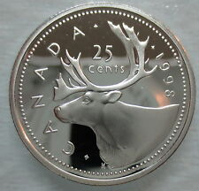 1998 CANADA 25 CENTS PROOF SILVER QUARTER COIN - A