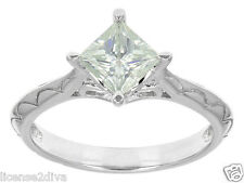 CHARLES & COLVARD MOISSANITE ENGAGEMENT RING! MADE IN THE USA! SIZE 7! NEW!