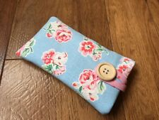 iPhone 5 / 5S / 5C / SE Fabric Padded Case - Cath Kidston Blue Ashdown Rose
