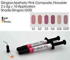 Gingiva Gum Shade Aesthetic Pink Flowable Dental Composite 2 x 2g, VITA GOD
