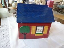 Vintage Trish Richman At Home International Red Country Cottage Cookie Jar