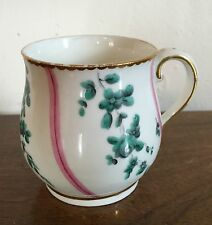 Antique Chelsea Derby Porcelain Tea Cup Pot de Creme 18th c. Sevres Manner 1775