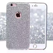 Coque Silicone Semi Rigide Brillant Strass Bling Bling Argent Silver Iphone 6 6S