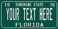 Custom Retro Vintage FLORIDA License Plate Personalize You Pick text