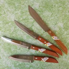 Thai Chef Knife Cook Knives KIWI Wood Handle Set 4 Pcs Kitchen Utensil Stainless