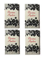 CHRISTINA AGUILERA 4 x 1.2 ml LADIES WOMEN PERFUME VIALS SAMPLE FAVOURS TRAVEL