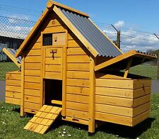 CHICKEN COOP RUN HEN HOUSE POULTRY ARK HOME NEST BOX COOPS RABBIT HUTCH PLASTIC