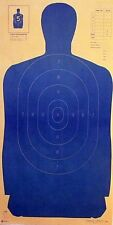 """B-27 silhouette targets in blue [23"""" x 45""""] (100 targets)"""