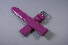 18mm Purple Patent Genuine Leather Watch Band,Strap,Interchangeable,Quick Relese