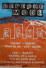"""DEPECHE MODE """"HOME + MIXES"""" U.K. PROMO POSTER FROM 1997 - New Wave Rock Music"""