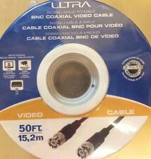 Ultra - U12-4163 - 50FT Male-To-Male BNC Coaxial Video Cable - 30.5m, 24K Gold