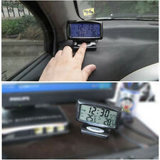 New Car Vehicle LCD Display Digital Indoor Outdoor Temperature Sensor Time Clock