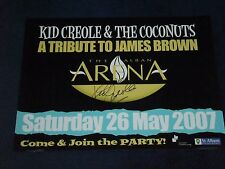 KID CREOLE SIGNED POSTER