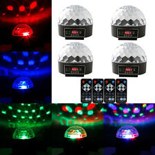 4-Pack DMX512 Crystal Ball LED Stage Light DJ Disco Party Lighting + Controller
