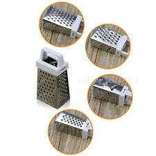 Stainless Steel 4 Sided Grater Cheese, Potatoes, Carrots Fine Medium Coarse MKLG