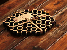 Bamboo Honeycomb Placemats Set, Eco-Friendly Dinnerware, Hexagonal Table Mats