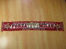 echarpe de football vintage AC MILAN Rouge Taille Unique