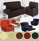 Easy Fit Stretch Elastic Chair Sofa Couch Settee Fabric Slip Over Washable Cover