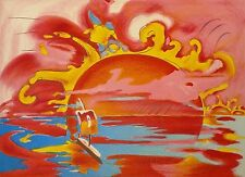 """PETER MAX """"SOLAR VIEW"""" 1981 