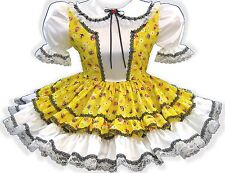 """Annie"" CUSTOM FIT Pretty Yellow Adult Little Girl Baby Sissy Dress LEANNE"