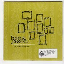 (GS198) Ben & Jason, Ten Songs About You album sampler - 2001 DJ CD