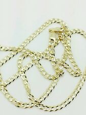 "10k Solid Yellow Gold High Polish Cuban Curb Necklace Pendant Chain 20"" 2.8mm"