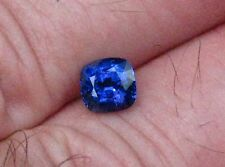 1.08 CARAT LOUPE CLEAN NATURAL CEYLON VIOLET BLUE SAPPHIRE CUSHION