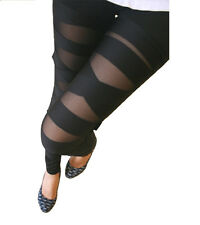 Black Bandage Leggings SMALL - XSmall Solid Back CRISS CROSS mummy