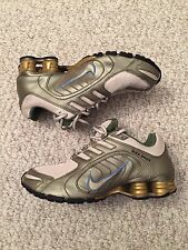 Nike Shox Navina Women's Size 7 Gold Green Blue Running Sneakers *Unique*