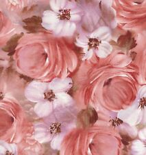 Roses Tulle & Petals Fabric By Yard Floral Collage