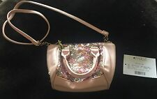 Betsey Johnson Blush Pink Sequin Mini Crossbody