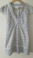 Pretty Osasis white long floral cotton top ties at back spring summer size 14