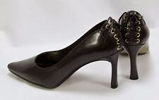 Fresco Womens Linx Brown Pump with Back Heel Lace Detail Size 8 W NIB